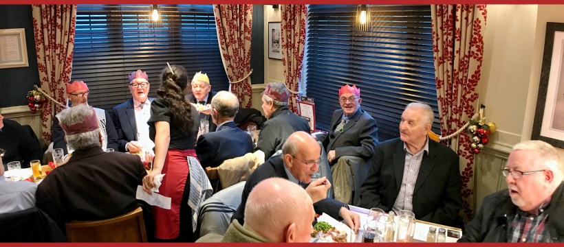 The Geezers Christmas dinner 2018 at the Eagle Snaresbrook