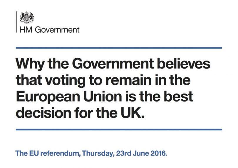 Cameron's leaflet