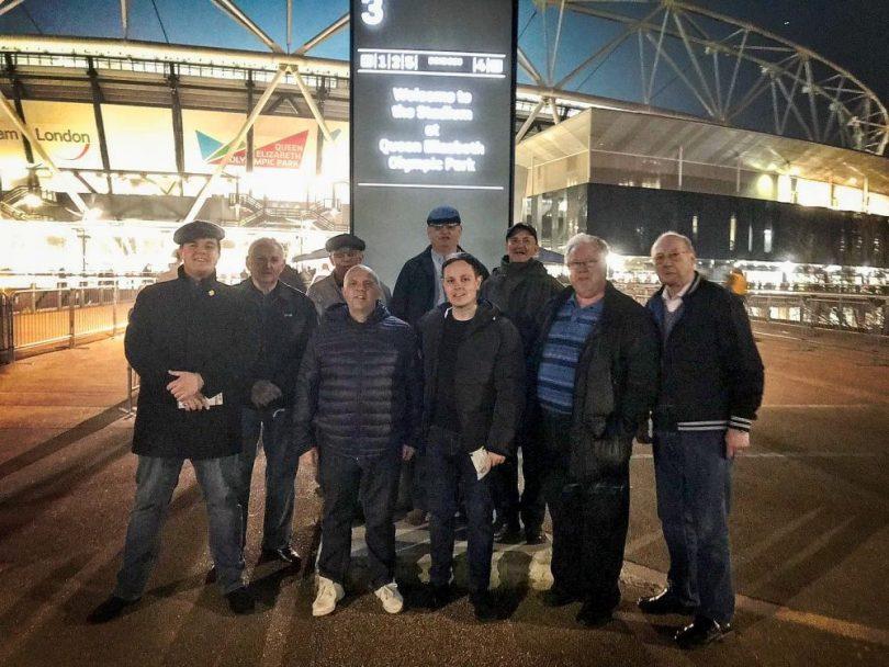 Geezers at West Ham United v Fulham