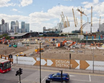 O2 area construction site May 2019