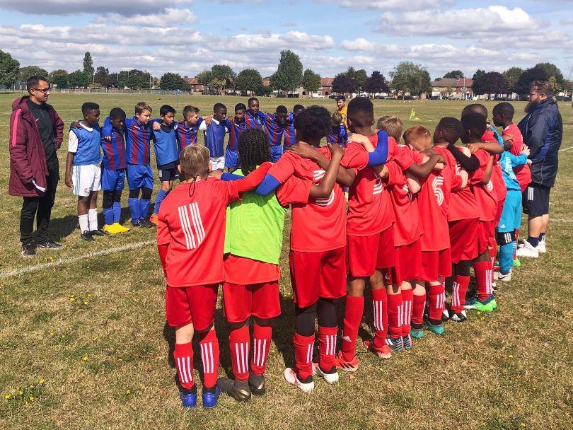 Gatcliffe YFC v Dagenham United Blues team lineup