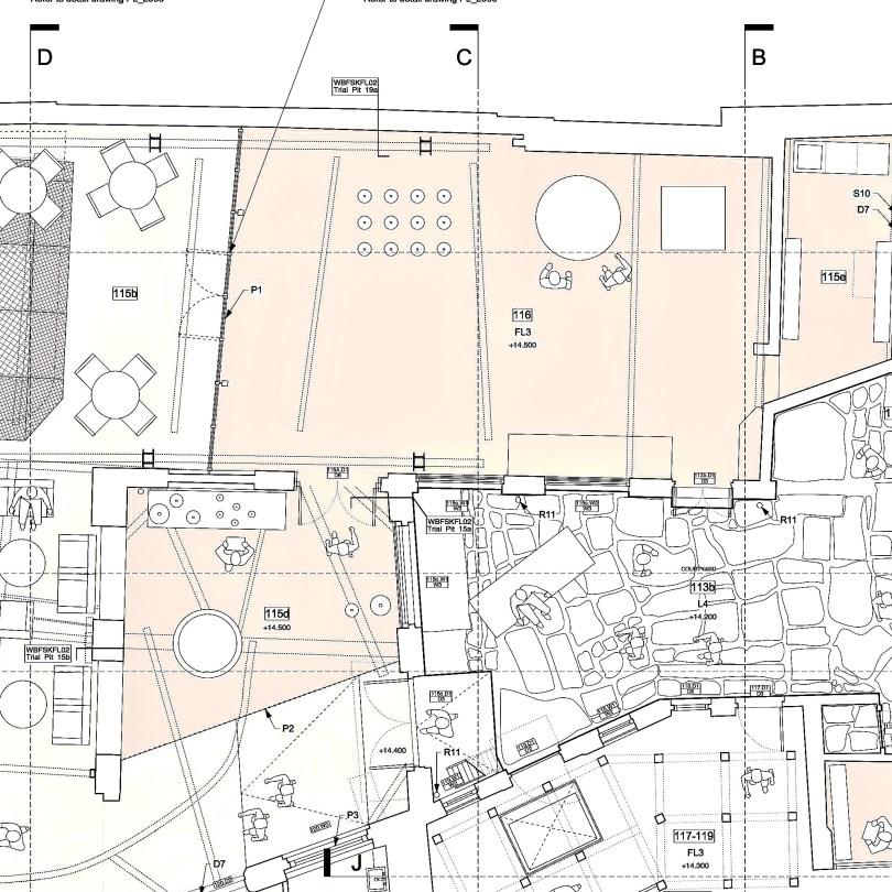Detail from a plan of the ground floor of the Whitechapel Bell Foundry from the council's website, dated 3rd Jan 2019