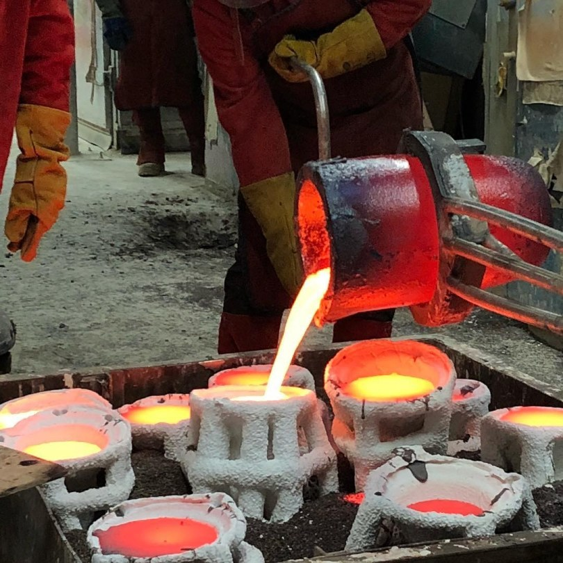 Casting at AB Fine Art Foundry in Poplar-image credit AB Fine Art Foundry