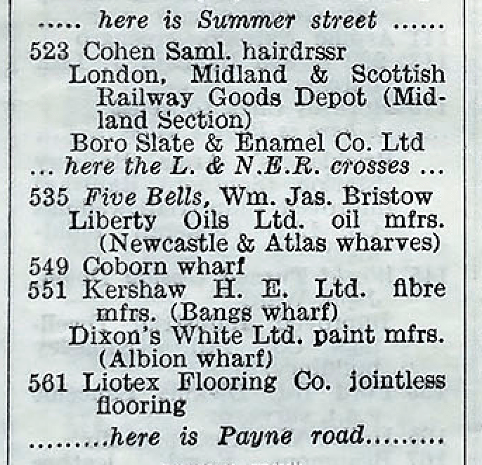 Old Ford Rd Coborn Wharf 1939
