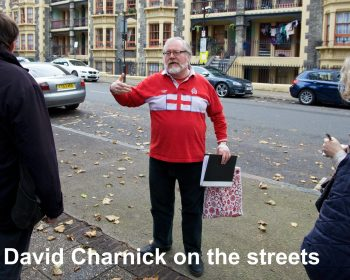 Tour Guide David Charnick on the streets