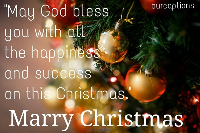 Merry Christmas message text for Instagram