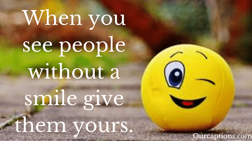 Smile Captions and Quotes