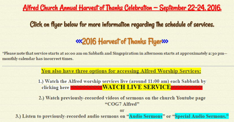 church website - too many text colors
