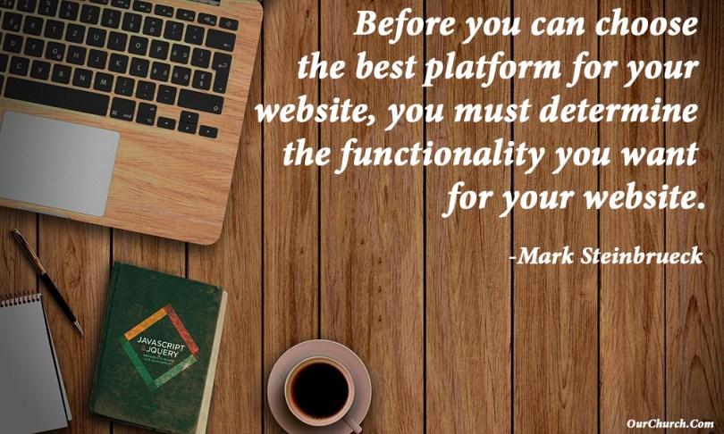 best platform for church website