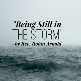 """Being Still in the Storm"" by Rev. Robin Arnold"