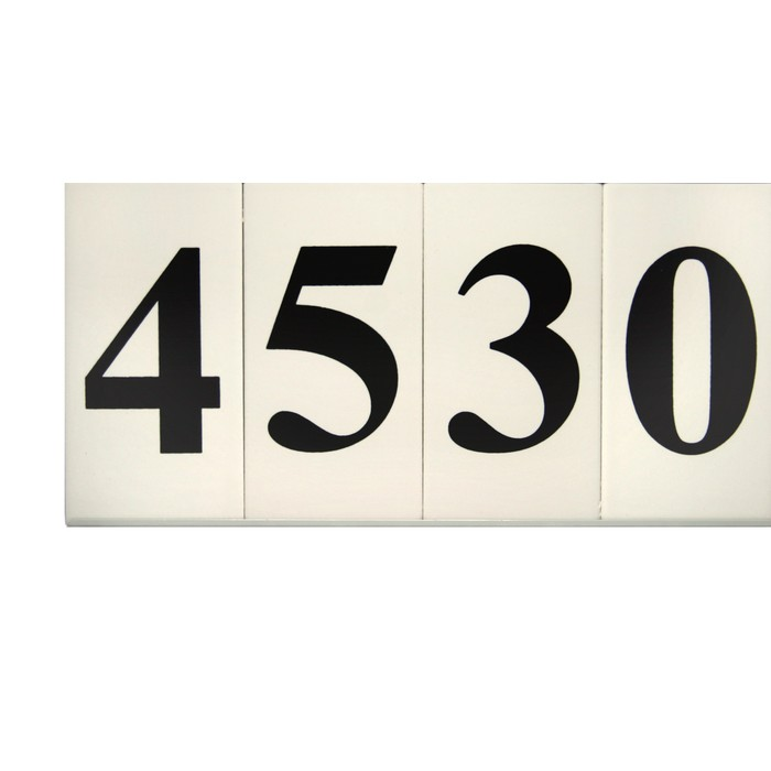 tuxedo ceramic house numbers in frame