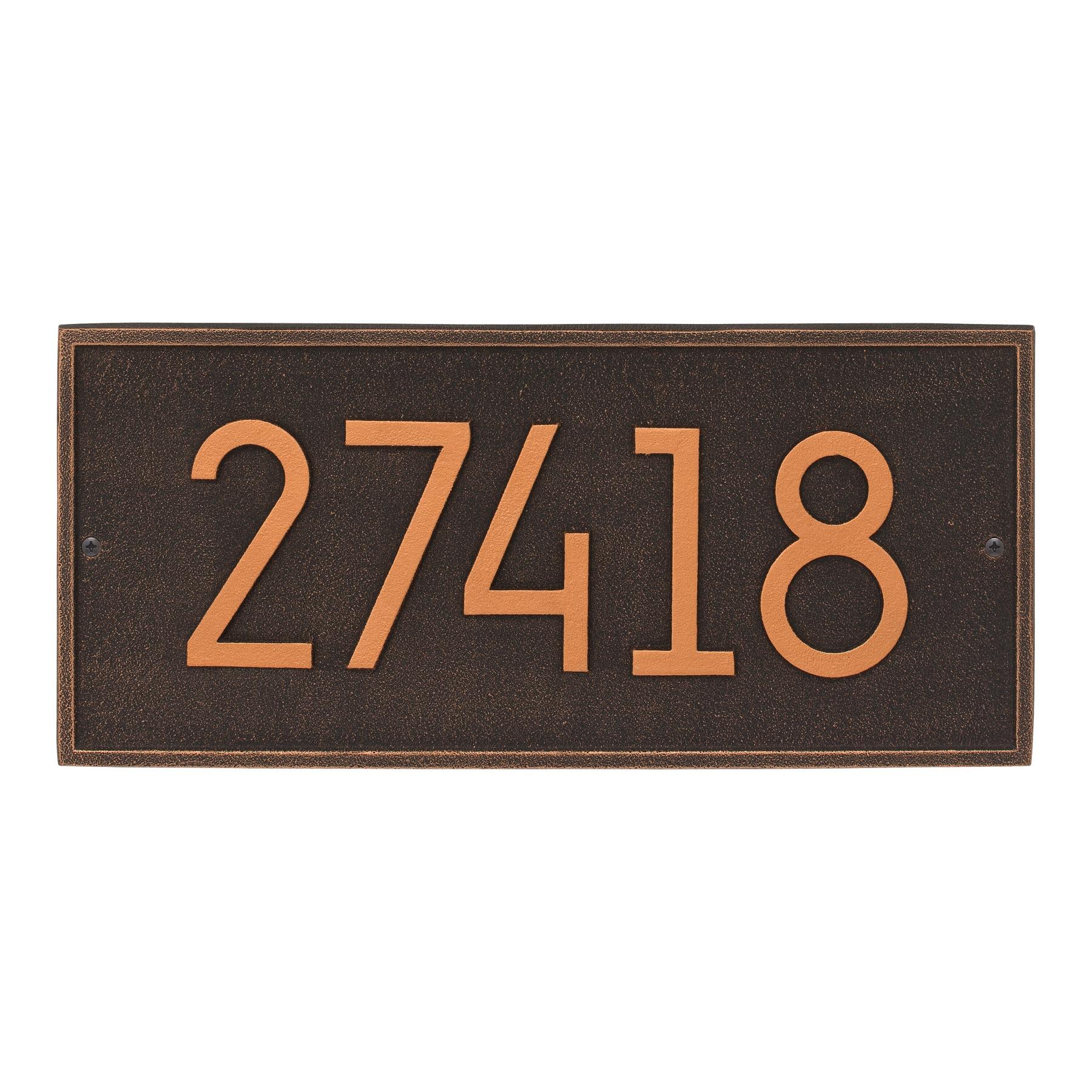 large kitchen clocks nj cabinets hartford modern address plaque wall