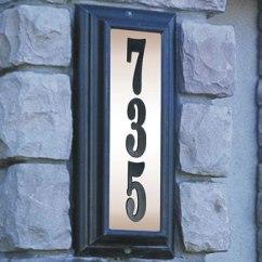 Kitchen Led Lighting Napa Style Island Edgewood Lighted Address Plaque, Vertical