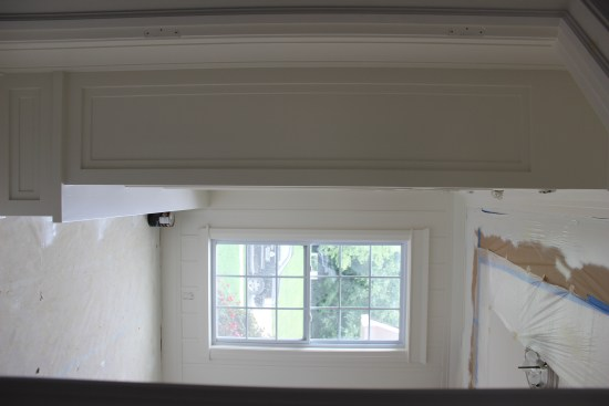 Our Corner of the World Blog | Office to Mudroom transformation - painted in PPG Breakthrough matched to Sherwin Williams Alabaster DIY house renovation