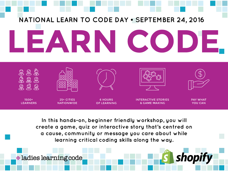 National Learn to Code Day is this Saturday