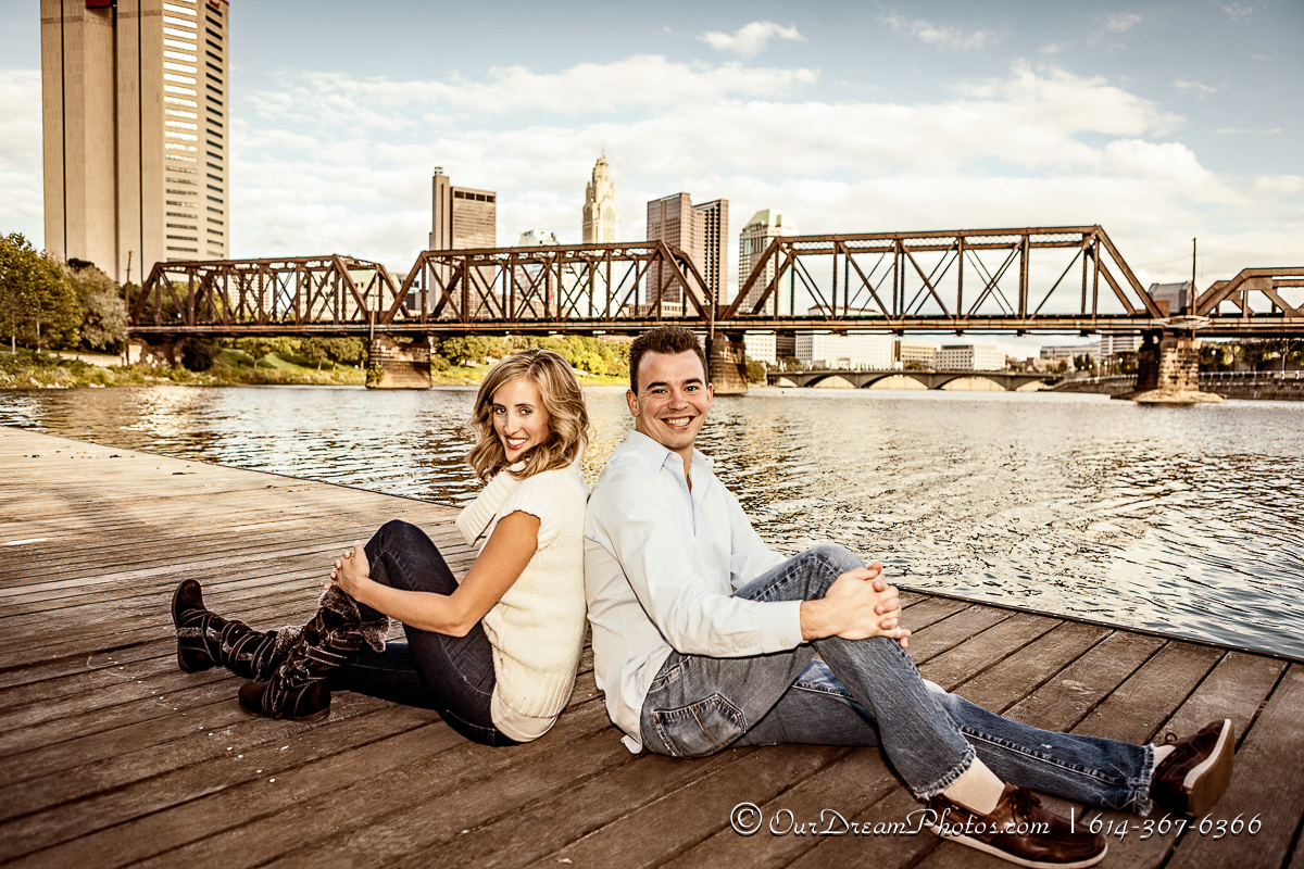 Engagement session with Alison Graham and Josh Eastman at Northbank Park Tuesday evening September 18, 2012.  (© James D. DeCamp | http://www.OurDreamPhotos.com | 614-367-6366)