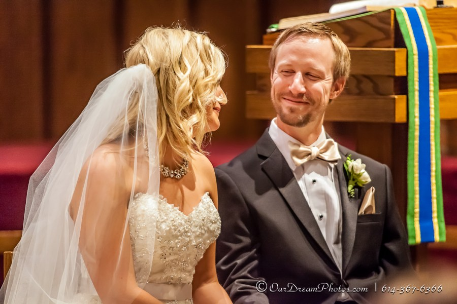 The wedding of Christa Nadler and Nick Orf photographed Saturday, October 3, 2015 at the All Saint Lutheran Church in Worthington, Ohio. (© James D. DeCamp | http://OurDreamPhotos.com | 614-367-6366)