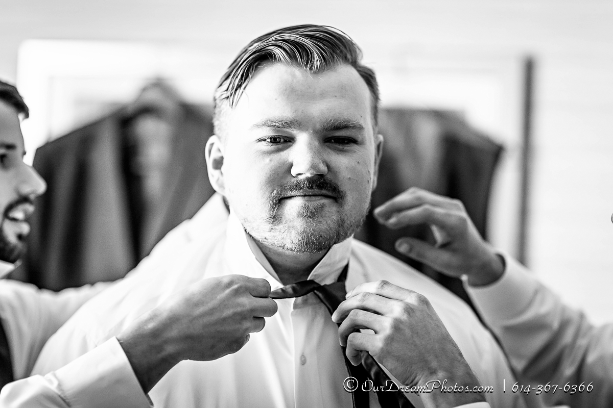 Getting ready before the wedding of Taylor Greene and Patrick Dillon photographed Saturday, November 7, 2015 at the Fairfield Inn & Suites Columbus North/Dublin. (© James D. DeCamp | http://OurDreamPhotos.com | 614-367-6366)