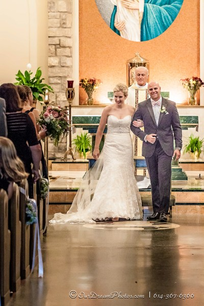 The wedding of Amelia Brown and Justin Schmiedel photographed Saturday, September 26, 2015 at Our Lady of Victory Catholic Church in Columbus, Ohio. (© Abigail L. Grove | http://OurDreamPhotos.com | 614-367-6366)