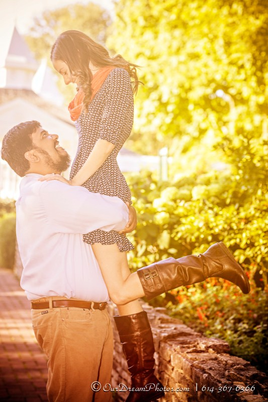 Engagement session with Emily Sites and Mike Manickam photographed Saturday, October 8, 2016 at the Franklin Park Conservatory. (© James D. DeCamp | http://OurDreamPhotos.com | 614-367-6366)