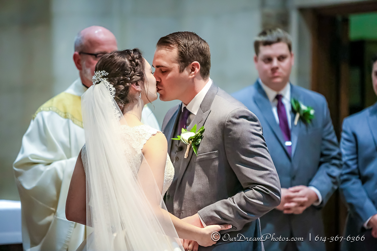 The wedding and reception of Jackie Powers & Tyler Merkle photographed Saturday, September 30, 2017 at St. Charles and the Columbus Athenaeum. (© Dana Nunez | http://OurDreamPhotos.com | 614-367-6366)
