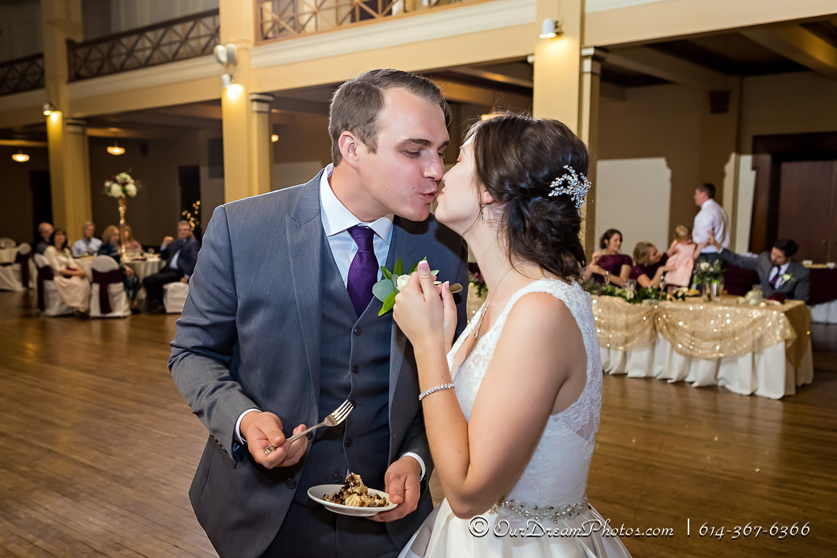The wedding and reception of Jackie Powers & Tyler Merkle photographed Saturday, September 30, 2017 at St. Charles and the Columbus Athenaeum. (© James D. DeCamp | http://OurDreamPhotos.com | 614-367-6366)