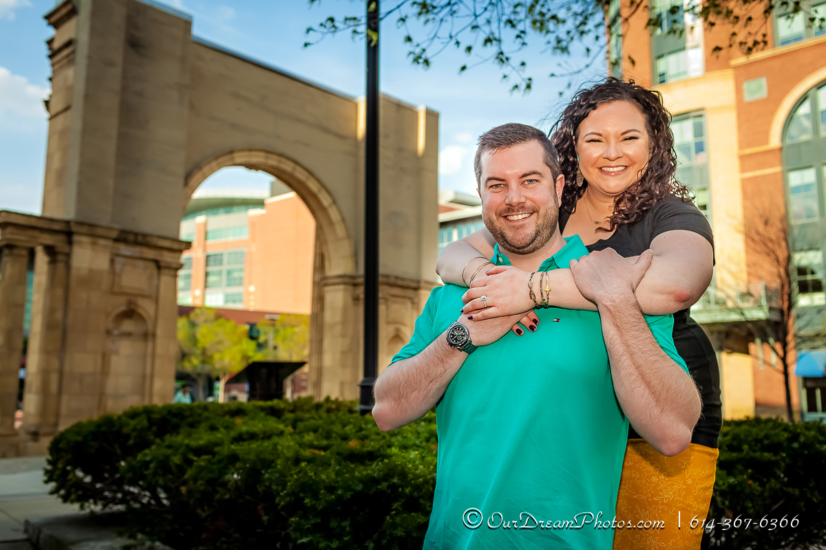 Engagement session with Rachel Rosenthal and Kyle Beougher photographed Saturday, April 15, 2017 in Columbus, Ohio. (© James D. DeCamp | http://OurDreamPhotos.com | 614-367-6366)