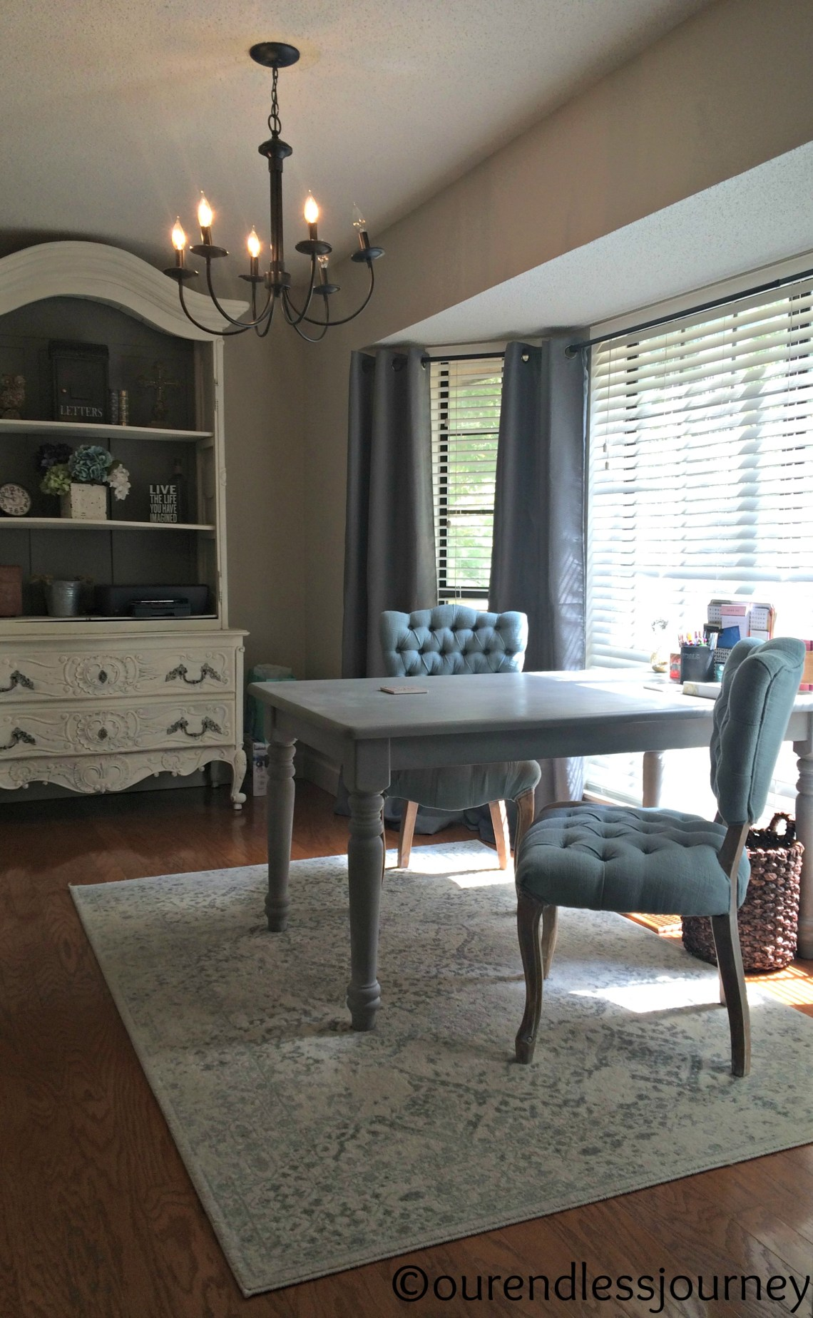 Annie Sloan Dining Table to Double Desk Make-Over | Our ...