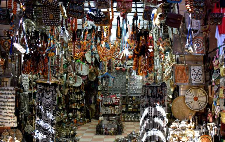 Morocco Travel Budget: Stall in Souks