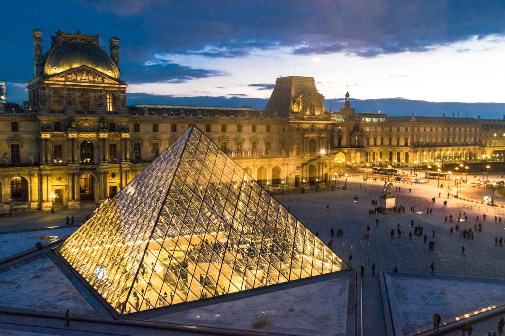 Second Time in Paris: The Louvre at Night