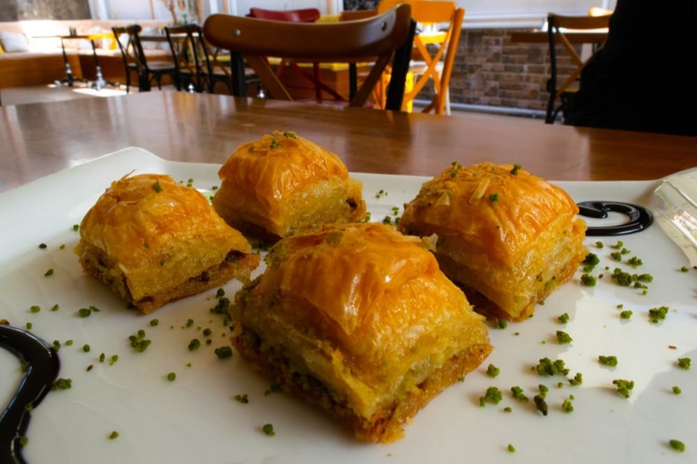 2 Days in Istanbul: Plate of Baklava