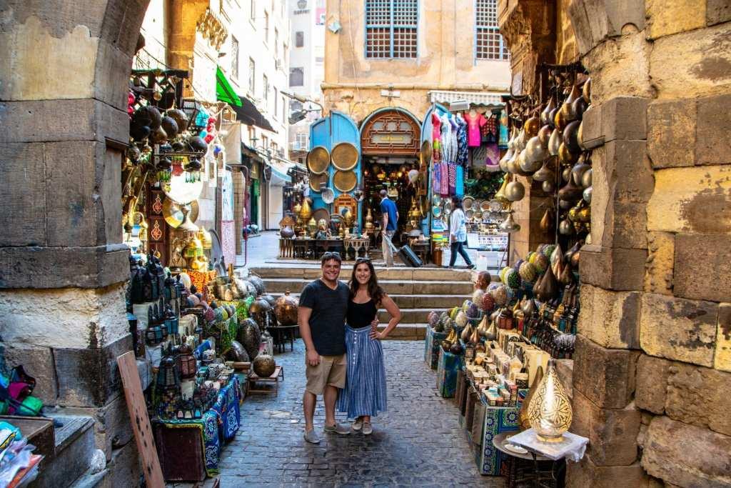 Layover in Cairo: Couple in Bazaar