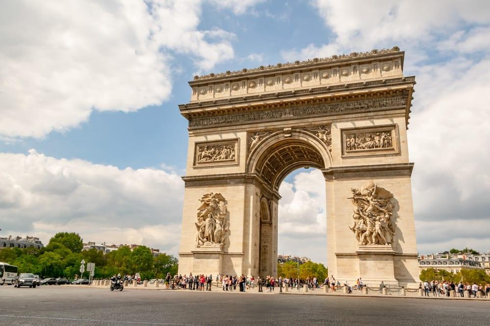 Paris in August: Arc de Triomphe