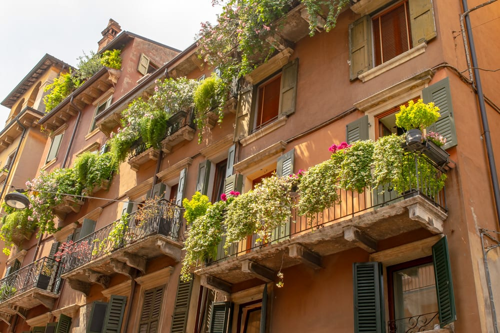 Best Things to Do in Verona: Balconies with Flowers