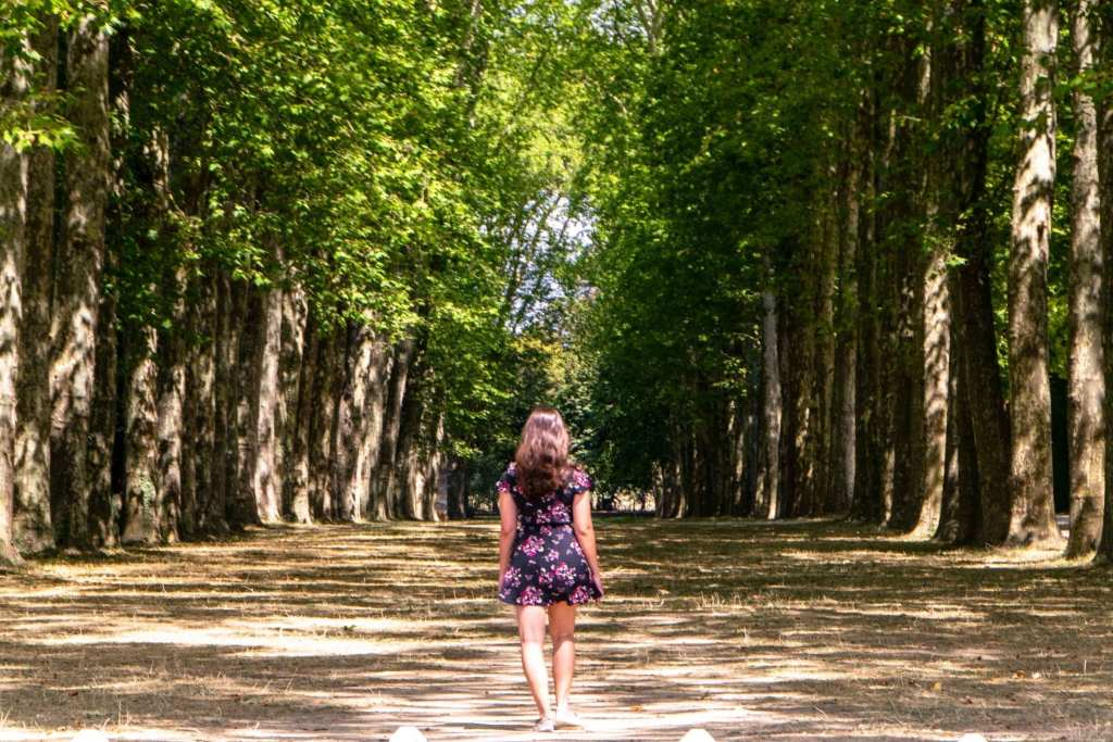 Visiting Versailles: Girl in the Gardens