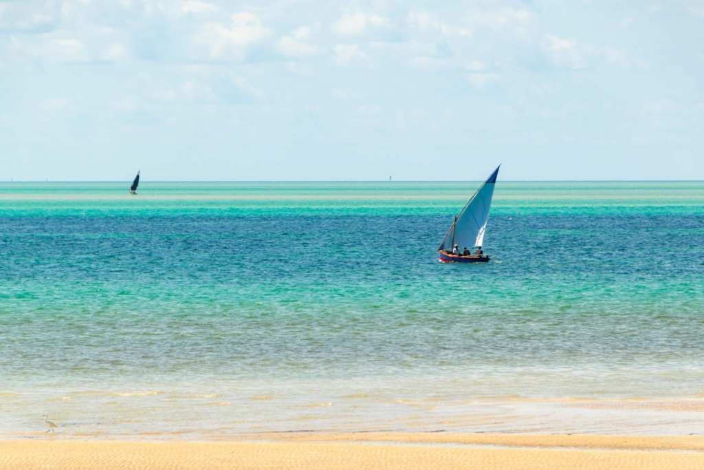 Sailboat in Vilanculos, Mozambique