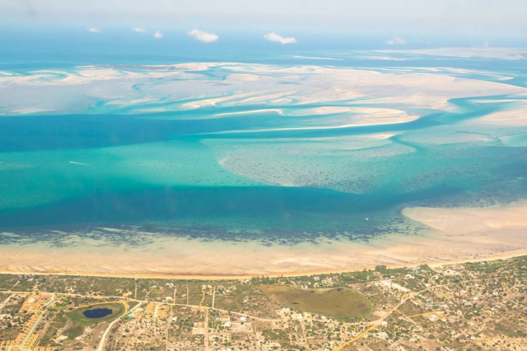 Vilanculos, Mozambique from the plane