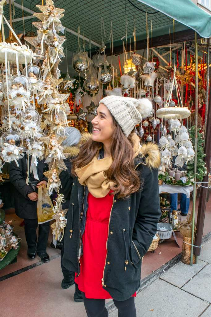 Winter in Salzburg: Girl at Christmas Market