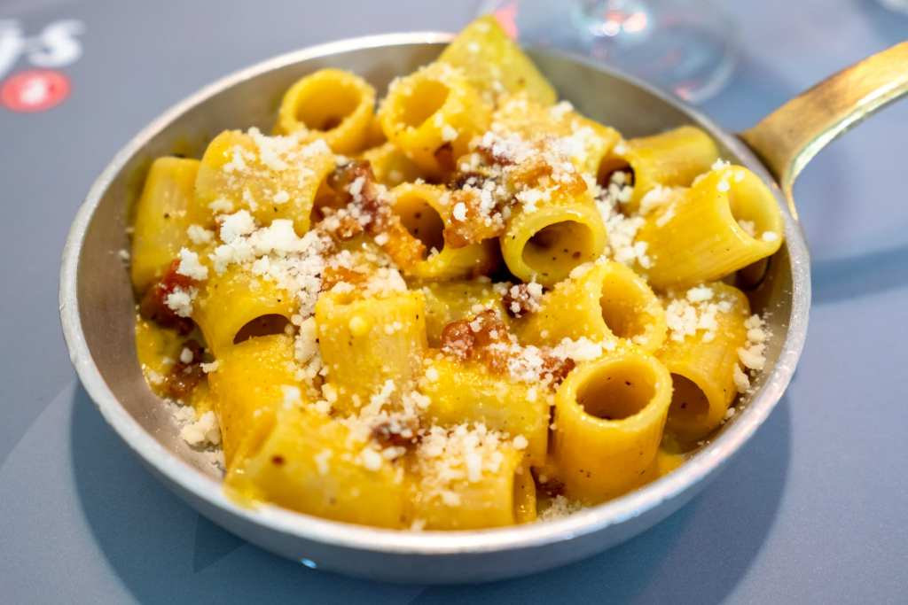 2 Days in Rome Itinerary: Plate of Pasta Carbonara