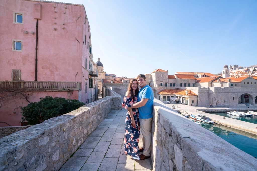 Couple Standing on Dubrovnik City Walls: Packing List for Europe Summer