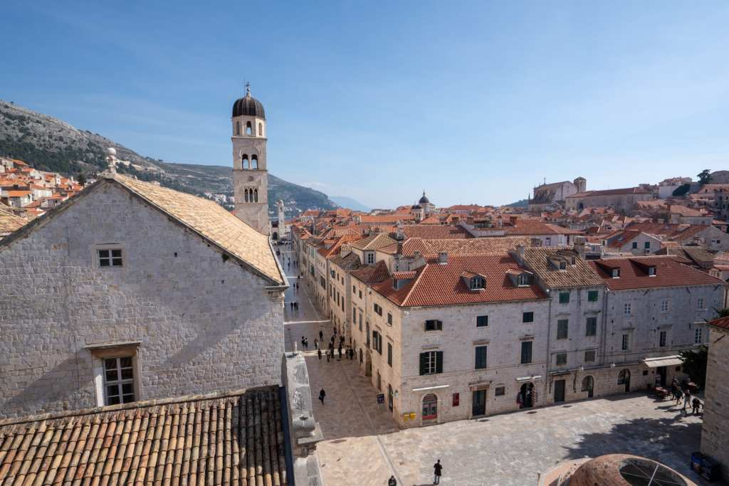 Fun Things to Do in Dubrovnik Croatia: View of Square from the Walls