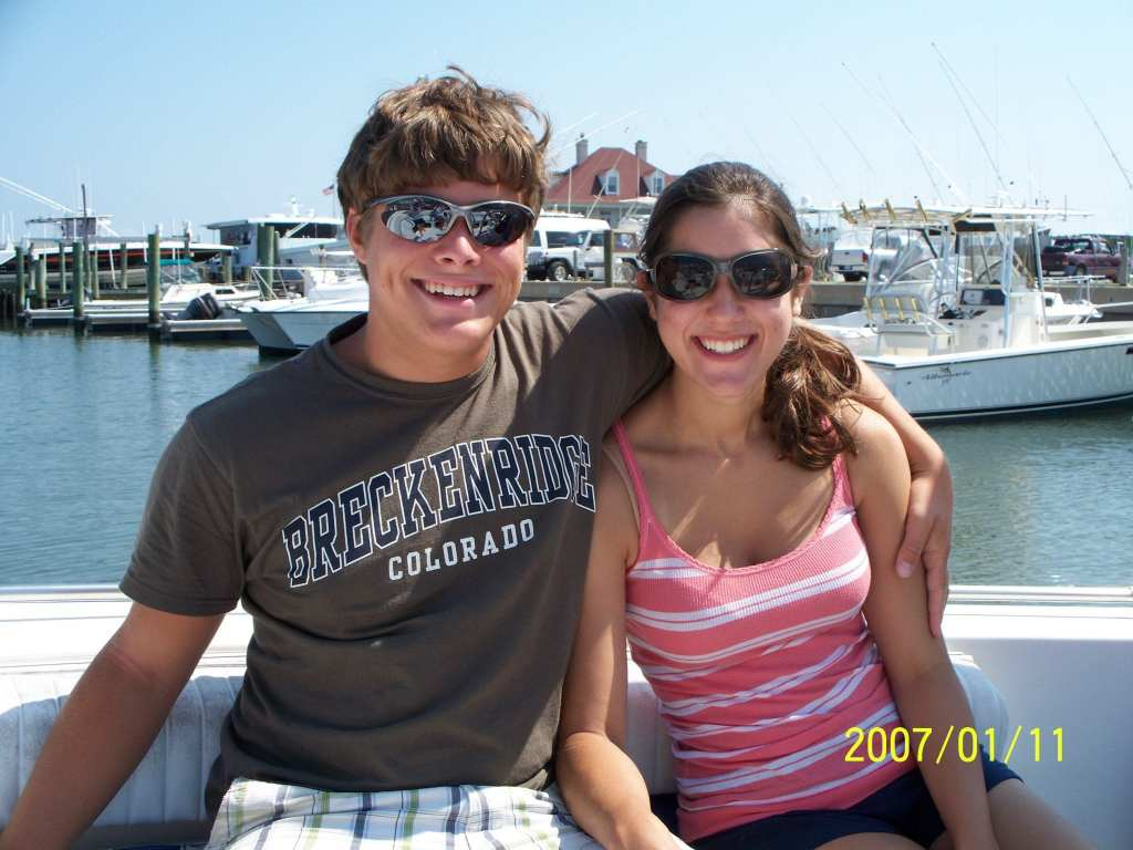 Things to Do in Beaufort NC: young couple on a boat in Beaufort NC
