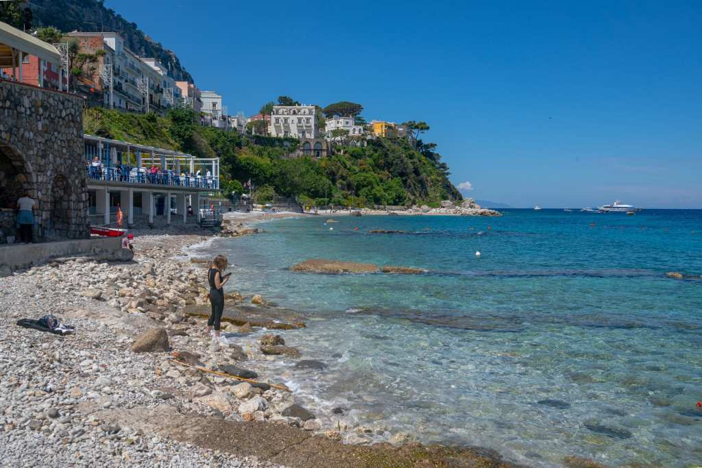 Rocky Beach in Capri, Amalfi Coast or Cinque Terre