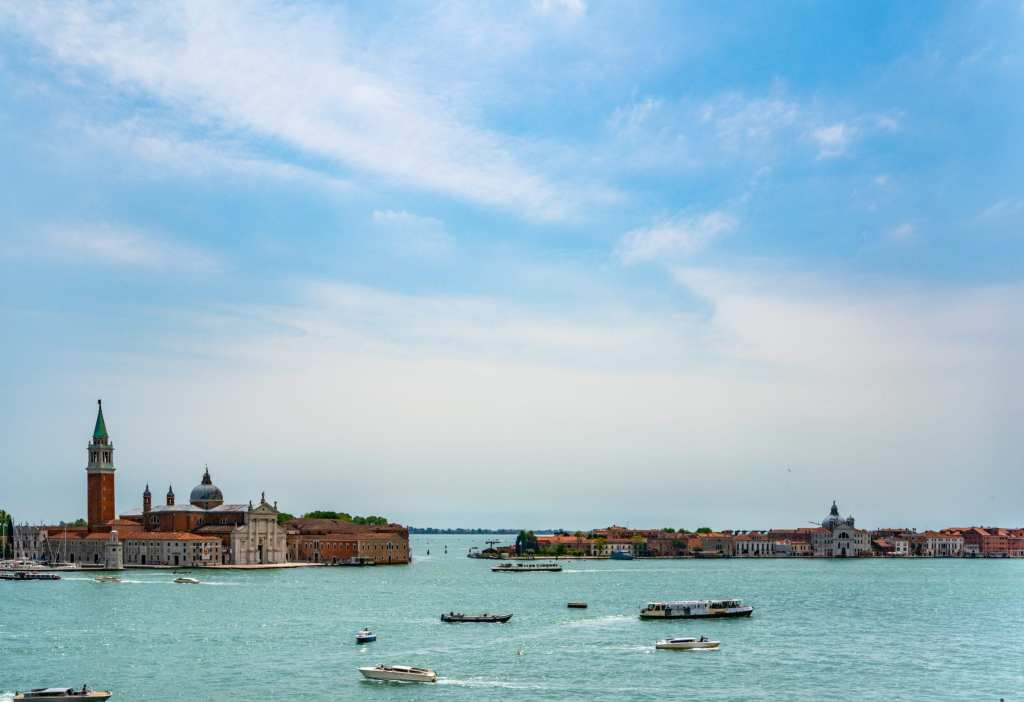 Photo of Venetian Lagoon as seen from the Doge's Palace in Venice