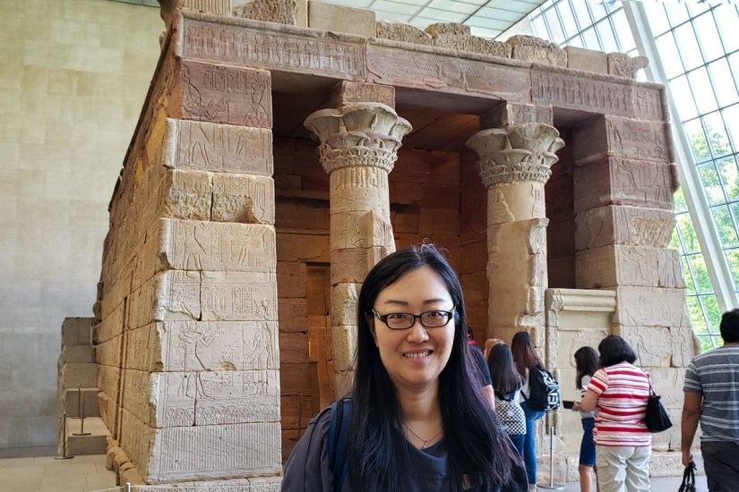 Family travels to The Temple of Dendur NYC