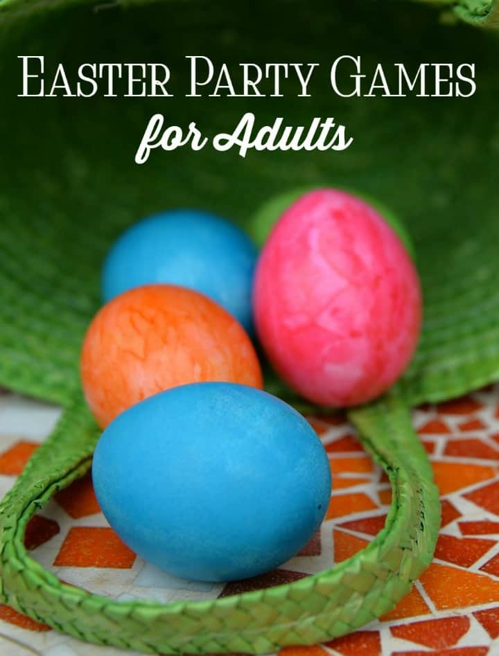 Host a memorable Easter celebration by letting the grown ups in on the fun with these Easter party games for adults! You'll be asked to host ALL the parties after this!
