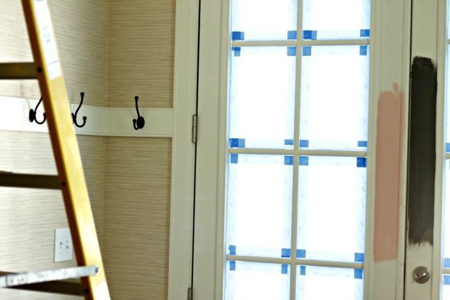 diy coat rack entry foyer