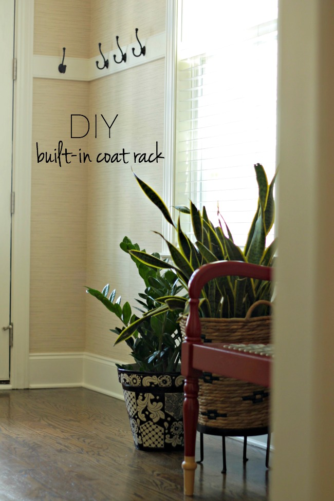 diy builtin coat rack