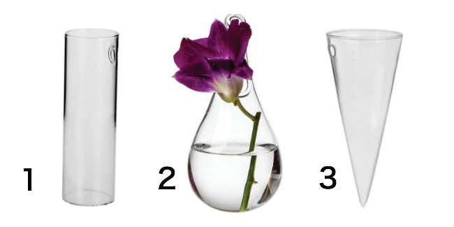glass wall vases