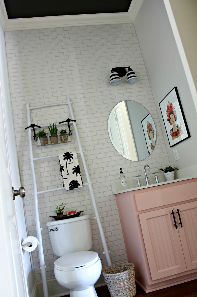 powder bathroom makeover